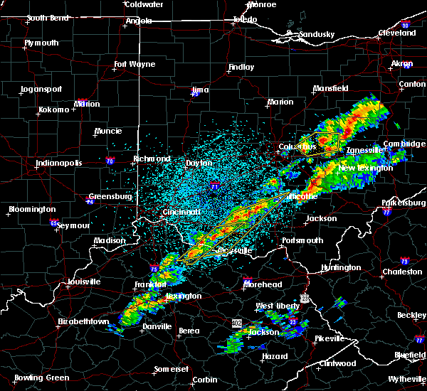 Radar Image for Severe Thunderstorms near Winchester, OH at 3/14/2019 10:24 PM EDT