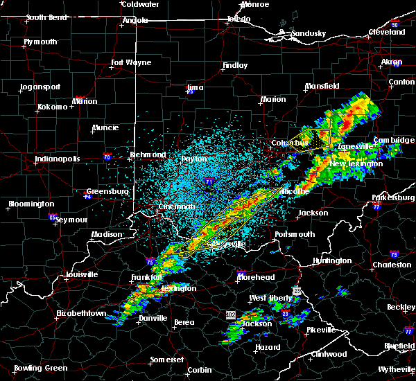 Radar Image for Severe Thunderstorms near West Union, OH at 3/14/2019 10:27 PM EDT