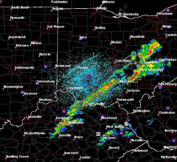 Radar Image for Severe Thunderstorms near Logan, OH at 3/14/2019 10:31 PM EDT