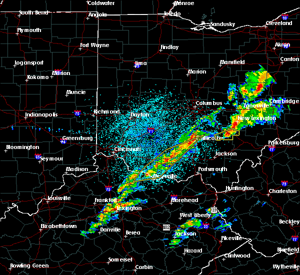 Radar Image for Severe Thunderstorms near West Union, OH at 3/14/2019 10:40 PM EDT