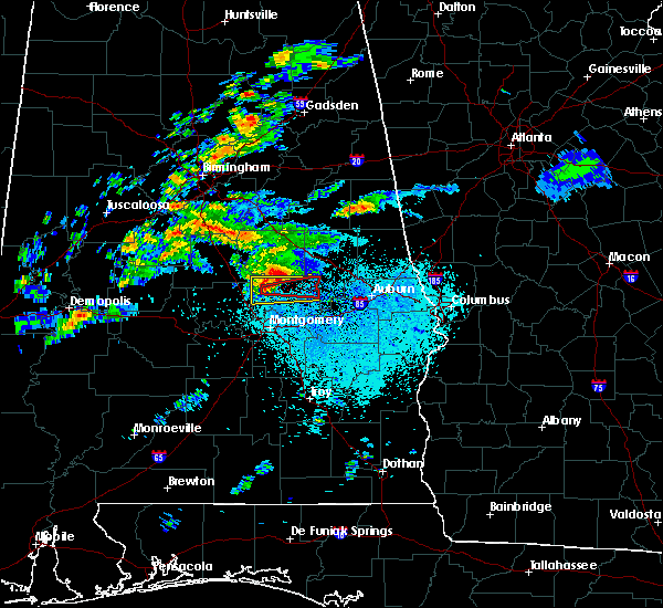 Radar Image for Severe Thunderstorms near Eclectic, AL at 3/14/2019 9:43 PM CDT