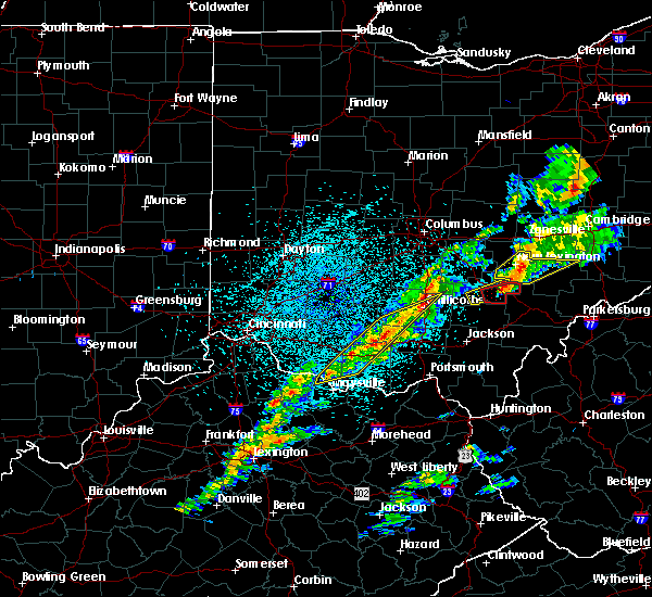 Radar Image for Severe Thunderstorms near Logan, OH at 3/14/2019 10:43 PM EDT