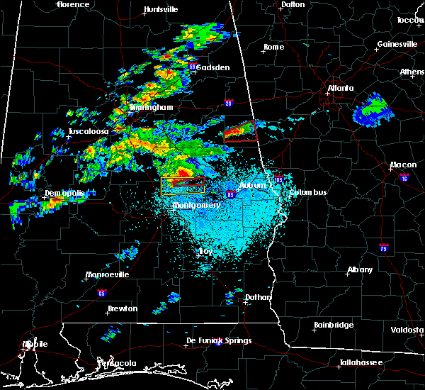 Radar Image for Severe Thunderstorms near Eclectic, AL at 3/14/2019 9:52 PM CDT