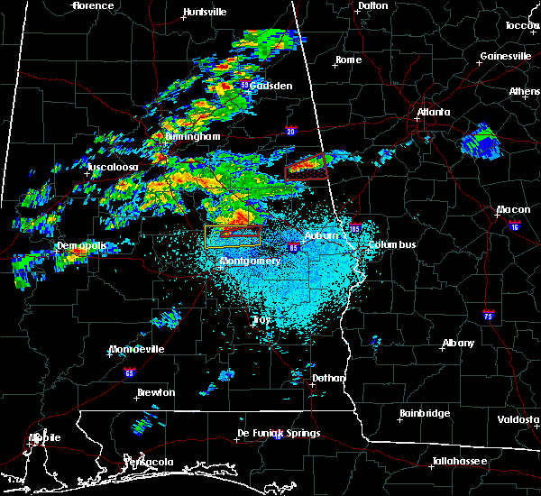 Radar Image for Severe Thunderstorms near Eclectic, AL at 3/14/2019 9:58 PM CDT