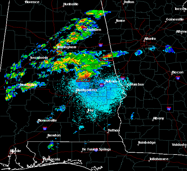 Radar Image for Severe Thunderstorms near Eclectic, AL at 3/14/2019 10:01 PM CDT
