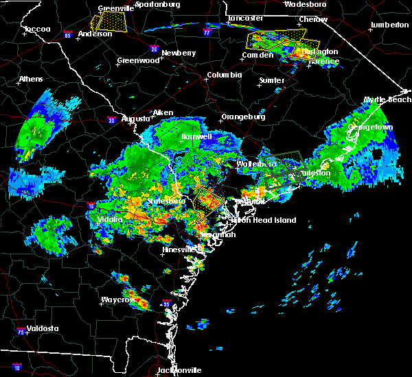Radar Image for Severe Thunderstorms near Beaufort, SC at 6/9/2015 7:32 PM EDT
