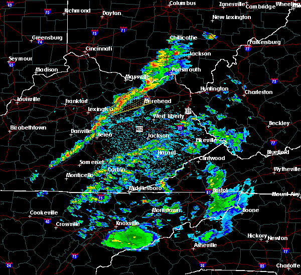 Radar Image for Severe Thunderstorms near Mount Sterling, KY at 3/14/2019 11:44 PM EDT