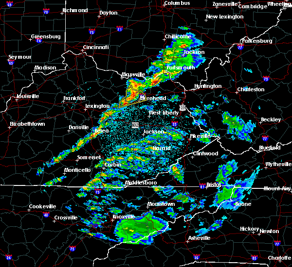 Radar Image for Severe Thunderstorms near Morehead, KY at 3/14/2019 11:59 PM EDT
