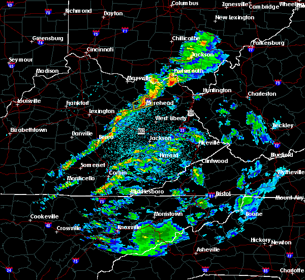 Radar Image for Severe Thunderstorms near Morehead, KY at 3/15/2019 12:11 AM EDT