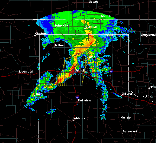 Radar Image for Severe Thunderstorms near Amarillo, TX at 3/22/2019 7:09 PM CDT