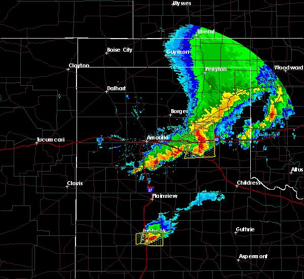 Radar Image for Severe Thunderstorms near Lefors, TX at 3/22/2019 10:16 PM CDT