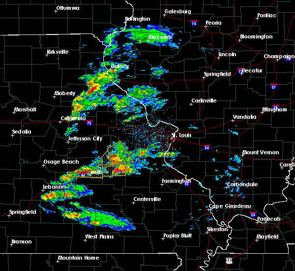 Radar Image for Severe Thunderstorms near Leasburg, MO at 3/24/2019 4:29 PM CDT