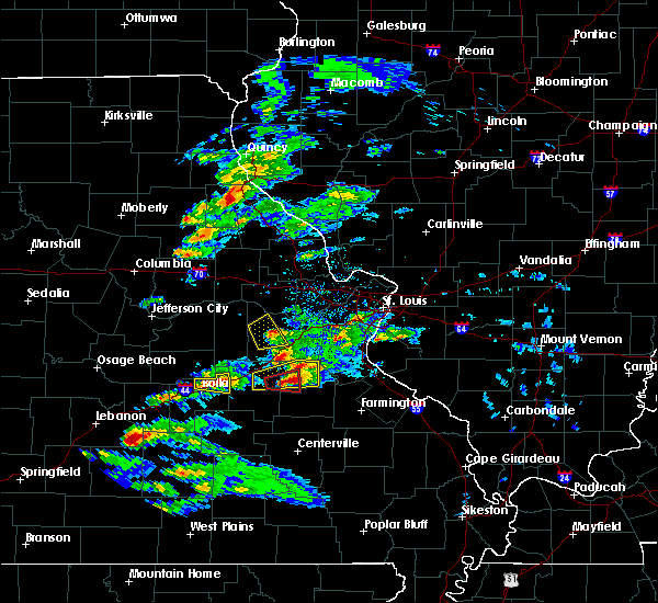 Radar Image for Severe Thunderstorms near St. James, MO at 3/24/2019 4:50 PM CDT