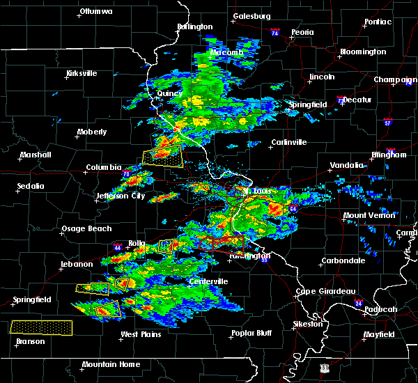 Radar Image for Severe Thunderstorms near Potosi, MO at 3/24/2019 5:45 PM CDT