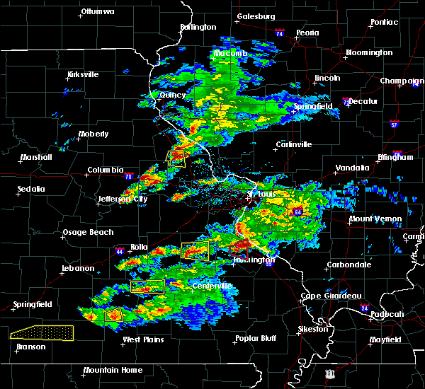 Radar Image for Severe Thunderstorms near Potosi, MO at 3/24/2019 6:07 PM CDT
