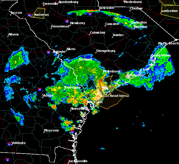 Radar Image for Severe Thunderstorms near Edisto Beach, SC at 6/9/2015 8:28 PM EDT