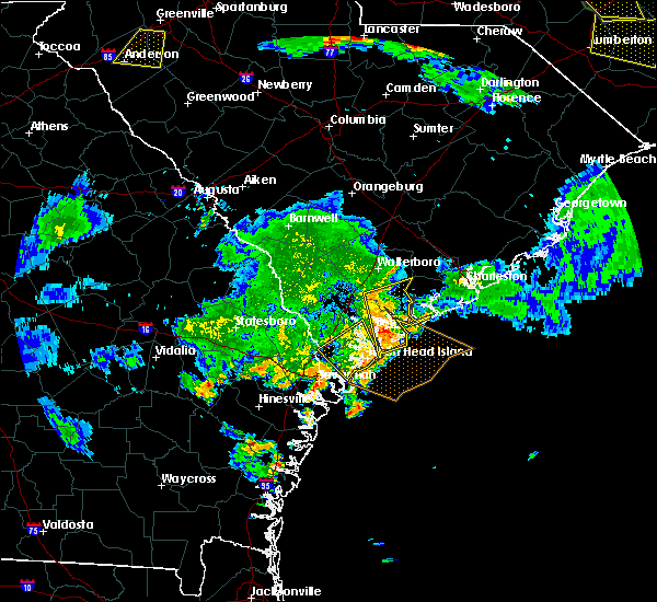 Radar Image for Severe Thunderstorms near Beaufort, SC at 6/9/2015 8:29 PM EDT