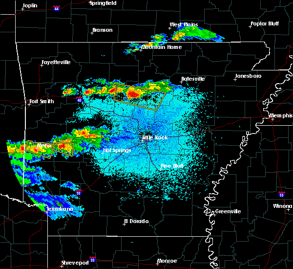 Radar Image for Severe Thunderstorms near Clinton, AR at 3/24/2019 9:00 PM CDT