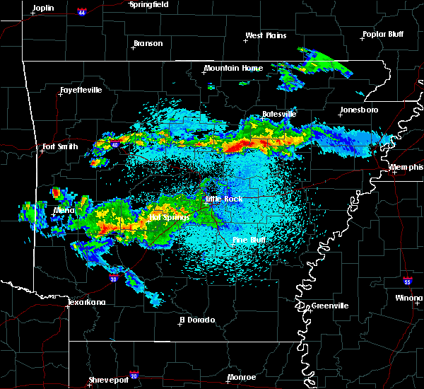 Radar Image for Severe Thunderstorms near Bradford, AR at 3/24/2019 10:31 PM CDT