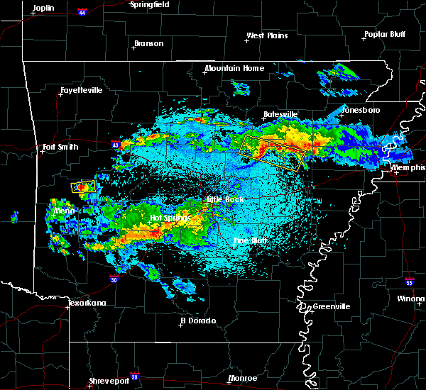 Radar Image for Severe Thunderstorms near Bradford, AR at 3/24/2019 10:58 PM CDT