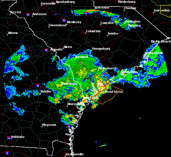 Radar Image for Severe Thunderstorms near Edisto Beach, SC at 6/9/2015 8:42 PM EDT