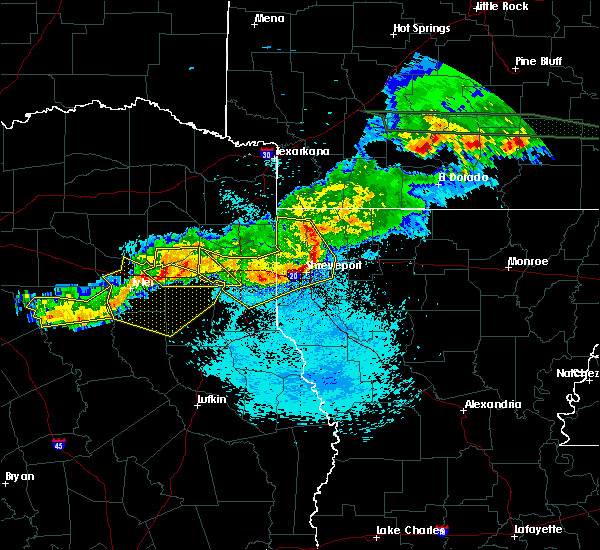 Radar Image for Severe Thunderstorms near Tyler, TX at 3/25/2019 3:09 AM CDT