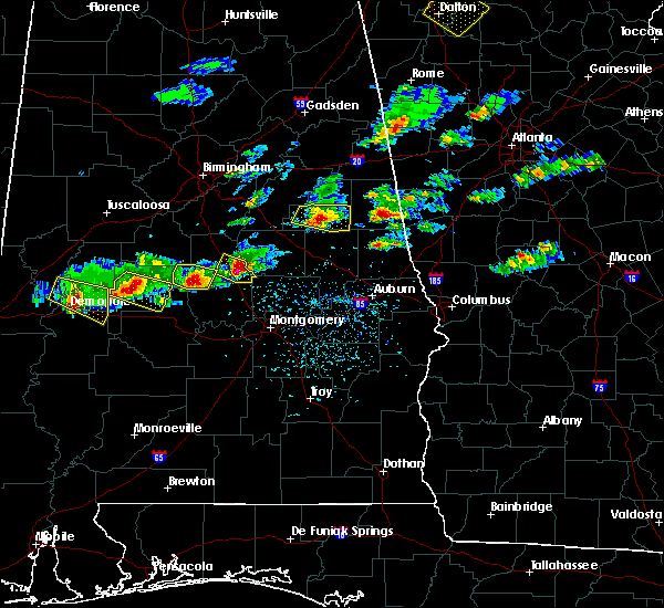 Radar Image for Severe Thunderstorms near Eclectic, AL at 3/25/2019 5:25 PM CDT