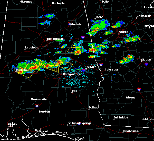 Radar Image for Severe Thunderstorms near Eclectic, AL at 3/25/2019 5:35 PM CDT