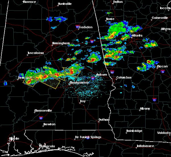 Radar Image for Severe Thunderstorms near Eclectic, AL at 3/25/2019 5:53 PM CDT