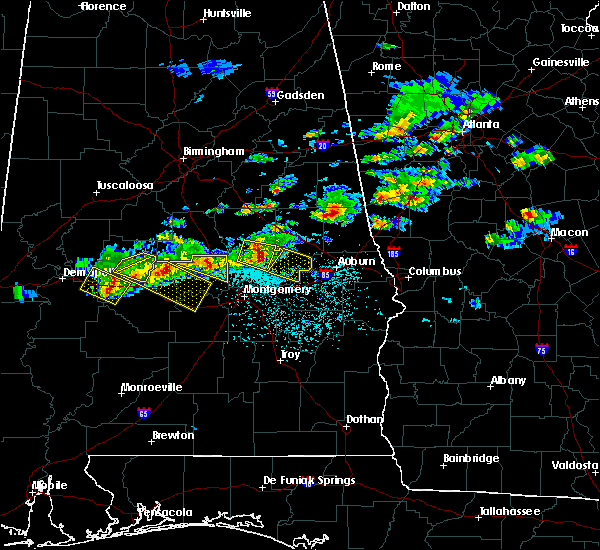 Radar Image for Severe Thunderstorms near Tallassee, AL at 3/25/2019 5:59 PM CDT