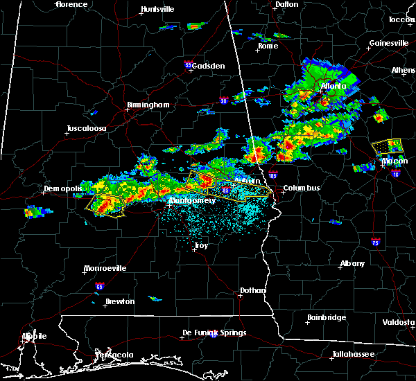 Radar Image for Severe Thunderstorms near Tallassee, AL at 3/25/2019 6:29 PM CDT