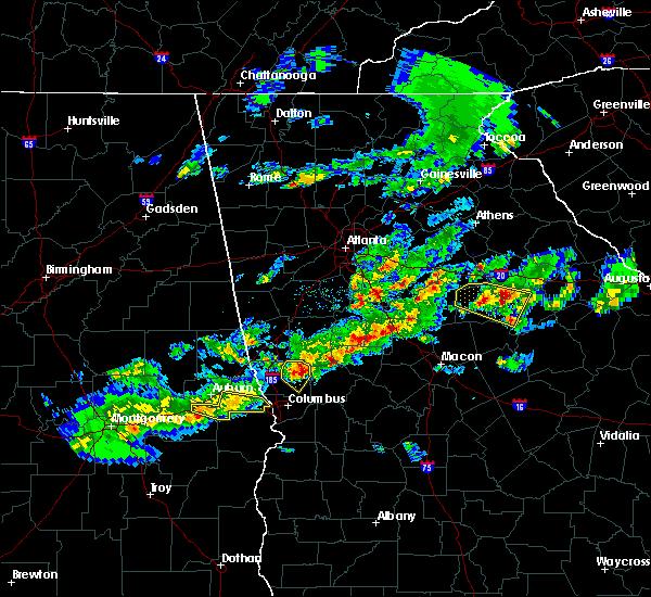 Radar Image for Severe Thunderstorms near Shiloh, GA at 3/25/2019 8:06 PM EDT