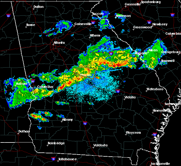 Radar Image for Severe Thunderstorms near Macon, GA at 3/25/2019 9:09 PM EDT