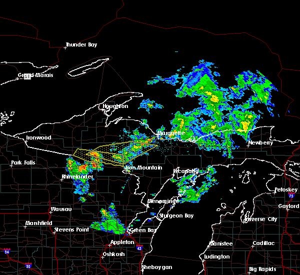 Radar Image for Severe Thunderstorms near Crystal Falls, MI at 6/10/2015 1:18 AM CDT