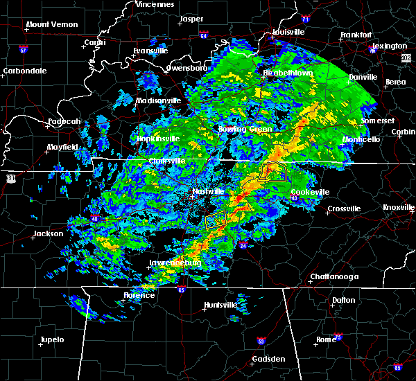 Radar Image for Severe Thunderstorms near Gainesboro, TN at 3/30/2019 7:39 PM CDT