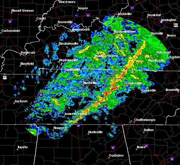 Radar Image for Severe Thunderstorms near Gainesboro, TN at 3/30/2019 7:57 PM CDT