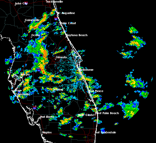Radar Image for Severe Thunderstorms near Sorrento, FL at 6/10/2015 1:52 PM EDT