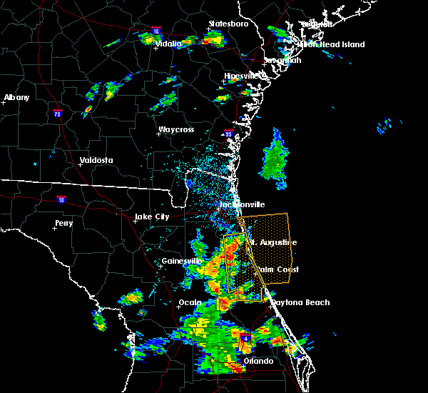 Radar Image for Severe Thunderstorms near Ormond Beach, FL at 6/10/2015 2:31 PM EDT