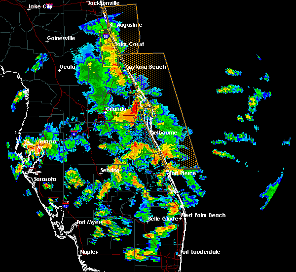 Radar Image for Severe Thunderstorms near Melbourne, FL at 6/10/2015 3:23 PM EDT