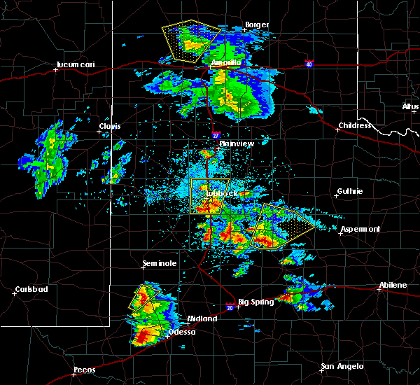 Radar Image for Severe Thunderstorms near Jayton, TX at 4/5/2019 9:16 PM CDT