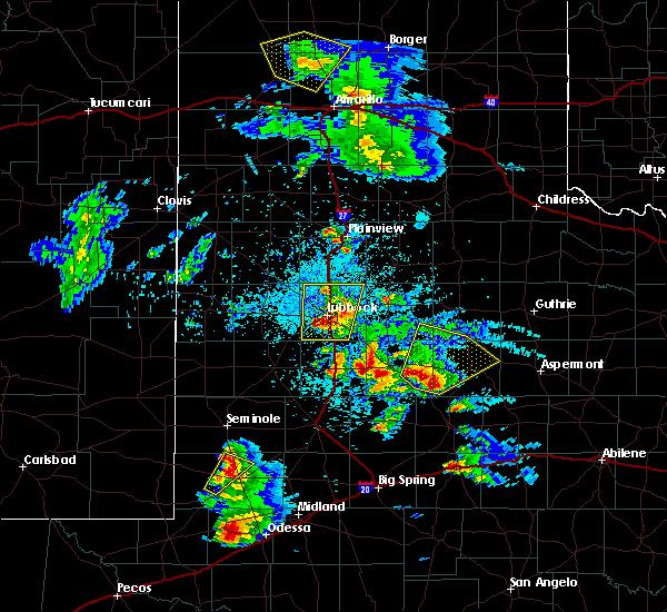 Radar Image for Severe Thunderstorms near Jayton, TX at 4/5/2019 9:25 PM CDT