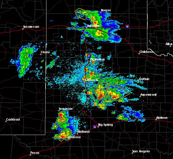 Radar Image for Severe Thunderstorms near Jayton, TX at 4/5/2019 9:43 PM CDT