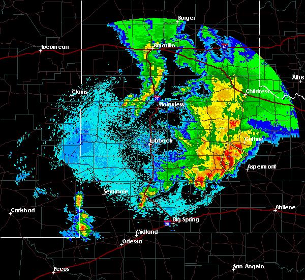 Radar Image for Severe Thunderstorms near Jayton, TX at 4/6/2019 1:05 AM CDT