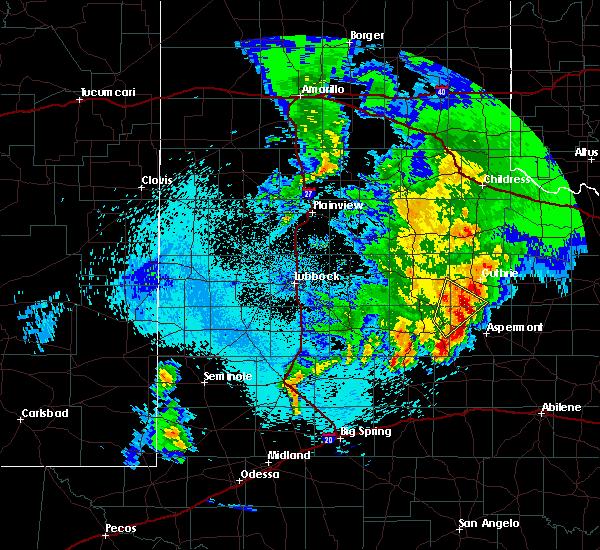 Radar Image for Severe Thunderstorms near Jayton, TX at 4/6/2019 1:27 AM CDT