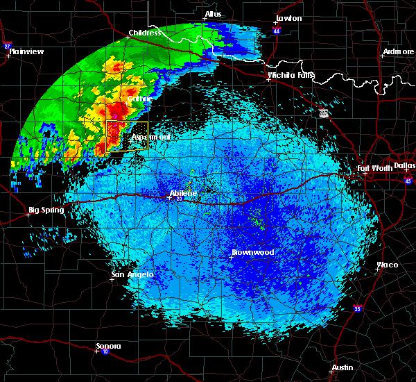 Radar Image for Severe Thunderstorms near Aspermont, TX at 4/6/2019 1:33 AM CDT