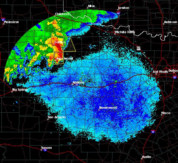 Radar Image for Severe Thunderstorms near Aspermont, TX at 4/6/2019 2:00 AM CDT