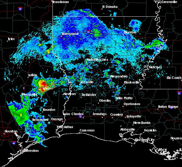 Radar Image for Severe Thunderstorms near Sam Rayburn, TX at 4/6/2019 9:37 AM CDT