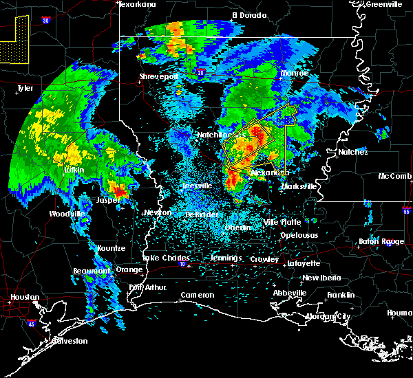 Radar Image for Severe Thunderstorms near Ball, LA at 4/6/2019 12:44 PM CDT