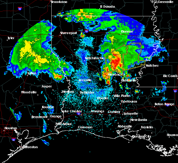 Radar Image for Severe Thunderstorms near Olla, LA at 4/6/2019 1:05 PM CDT