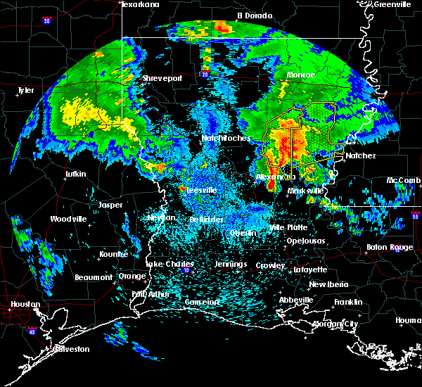 Radar Image for Severe Thunderstorms near Olla, LA at 4/6/2019 1:27 PM CDT
